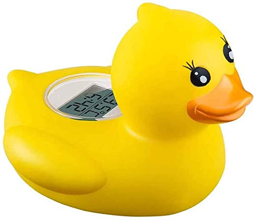 Thermomètre à eau pour bébé - Thermomètre de bain et de chambre pour bébé, alarme flottante pour baignoire et piscine pour nourrissons, canard jaune