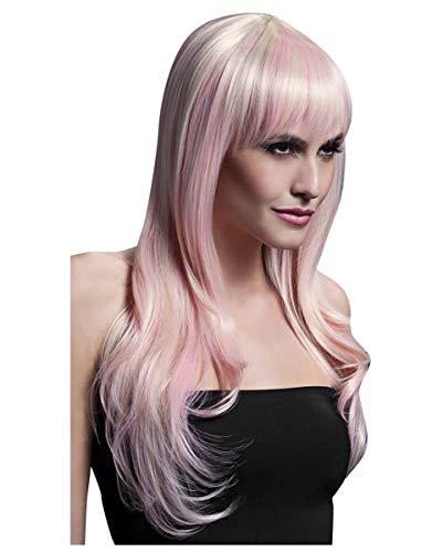 Horror-Shop Sienna Perücke blond/pink