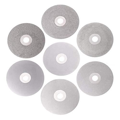 ViewSys Abrasive, 4 100 mm 80-2000# Diamante Recubierto de Vuelta de la Rueda Plana lapidario Pulido Rectificado de Discos Pincel de Pulido,