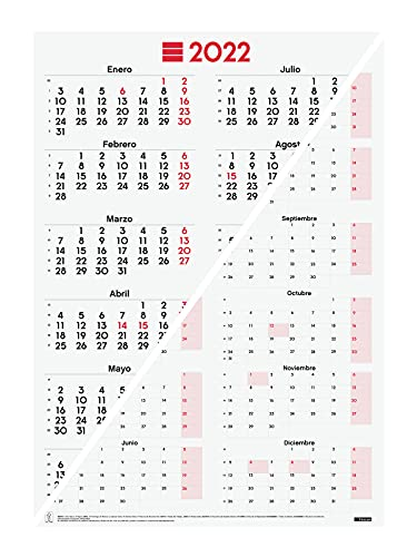 Finocam – Poster Calendar 2022 Year View, from January 2022 to December 2022 (12 months) 485 x 680 mm Mixed Annual Neutral Spanish