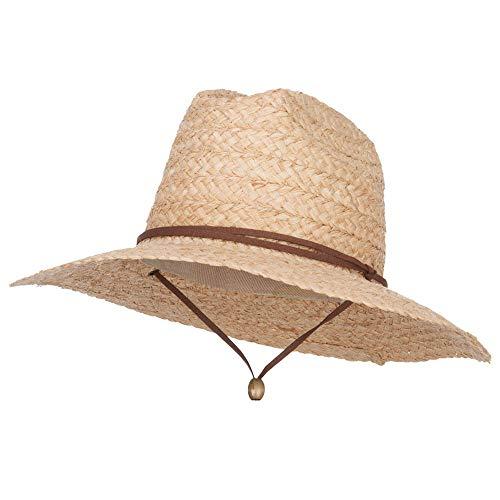 Men's Raffia Straw Lifeguard Hat - Natural OSFM