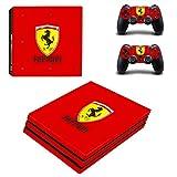 Adventure Games PS4 PRO - Ferrari - Playstation 4 Vinyl Console Skin Decal Sticker + 2 Controller Skins Set