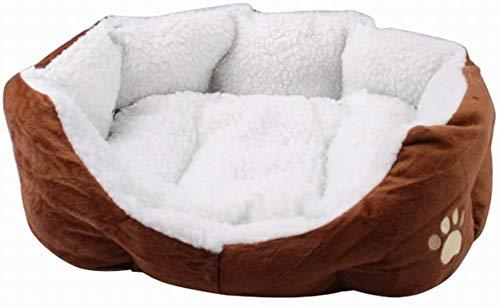 HETAO Unieke zachte warme indoor huisdier kat puppy bed matras slaapbank met matras benodigdheden, Bruin