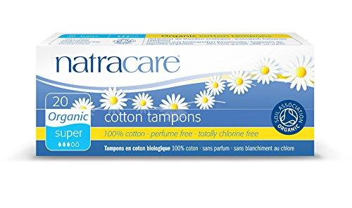 Natracare Super Tampon 20 - Damenhygieneprodukt (Baumwolle, 20 Stück)