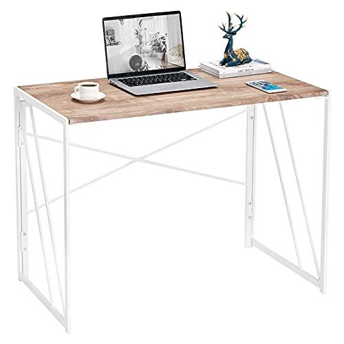 Aingoo Folding Computer Desk Folding Laptop Table Simple Writing Desk No Assemble Desk Home Office Desk for Adult & Kids OAK