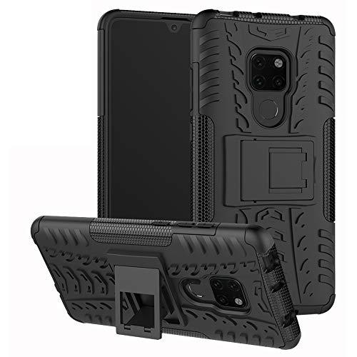 Labanema Mate 20 Funda, [Heavy Duty] [Doble Capa] [Protección Pesada] Híbrida Resistente Case Protectora y Robusta para Huawei Mate 20 (con 4 en 1 Regalo empaquetado) - Negro