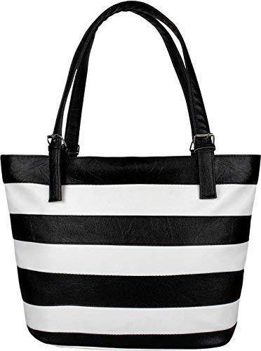 Fiona Trends Women's Handbag (White & black)