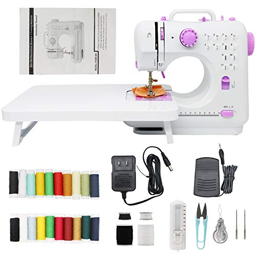 Portable Sewing Machines,Sewing Machine for beginners, 12 Stitches 2 Speed with Foot Pedal,Easy Sewing Machine for Household Crafting Mending.