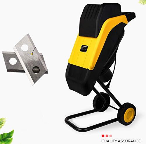YYSDH 2500W Jardín eléctrico Trituradora Trituradora de Madera Rama Hoja Shredder Trituradora...