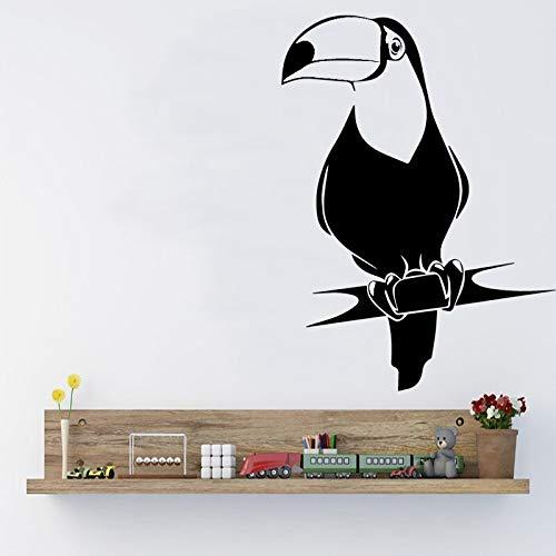 sanzangtang Mode Papagei Vinyl Aufkleber Wandaufkleber Familiendekoration Kinder Familie Kunst Aufkleber,39x53cm