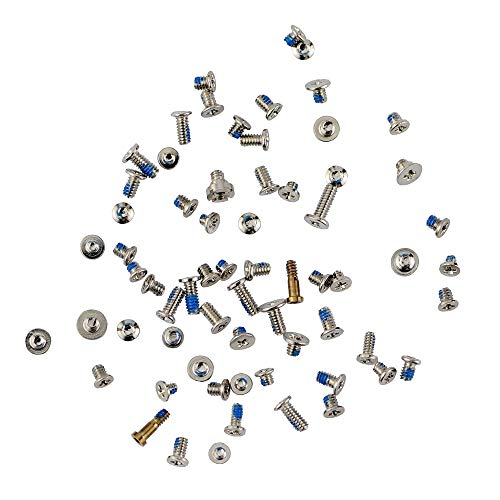 MMOBIEL Complete Screw Set Replacement Compatible with iPhone 6(White/Black/Gold) incl. 3 x Screwdrivers