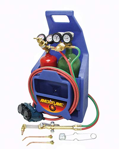 Ameriflame TI100A Medium Duty Portable Welding/Cutting/Brazing Outfit with Plastic Carrying
