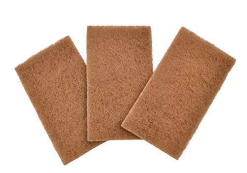 Full Circle Walnut Shell Non-Scratch, Brown, Scouring Pads, Set of 3