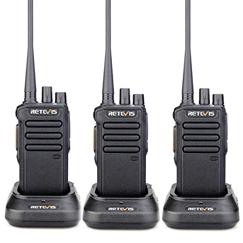 Retevis RT43 2 Way Radio Long Range, High Power Walkie Talkies Rechargeable, Military Standard Group Call 32CH DMR Digital,for Warehouse Operator Firefighter(3 Pack)