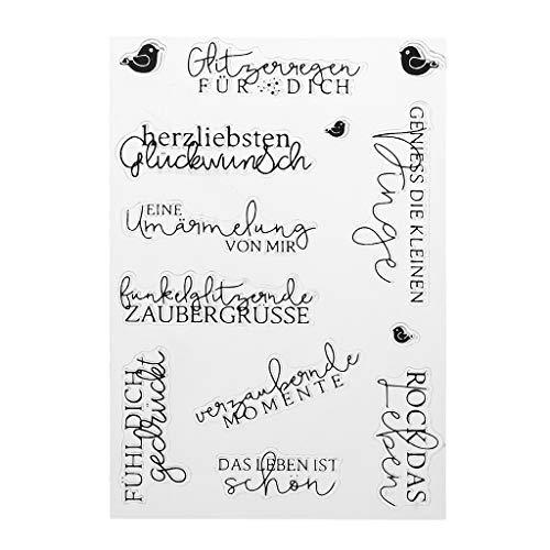 Xurgm Text DIY Silikon Clear Stamp Cling Siegel Sammelalbum Prägung Album Dekor
