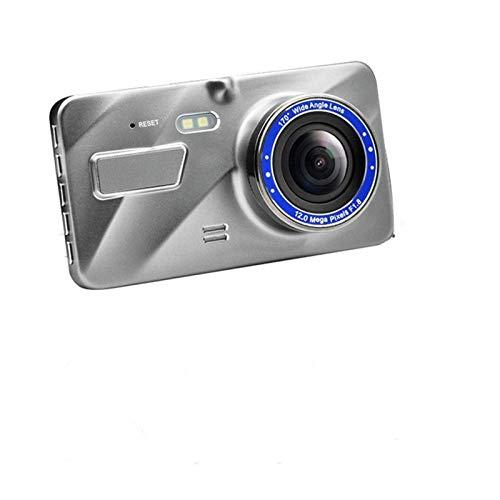 Cámara De Coche HD de 4 pulgadas de doble lente de imagen escondida de gran angular grabadora de conducción Dash Cam Doual Lens Cámara de cámaras Ayuda inversión ( Sd Card Memory : With 32G TF Card )