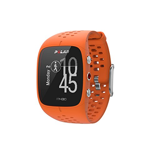 Polar M430 GPS Running Watch, Orange, Medium/Large
