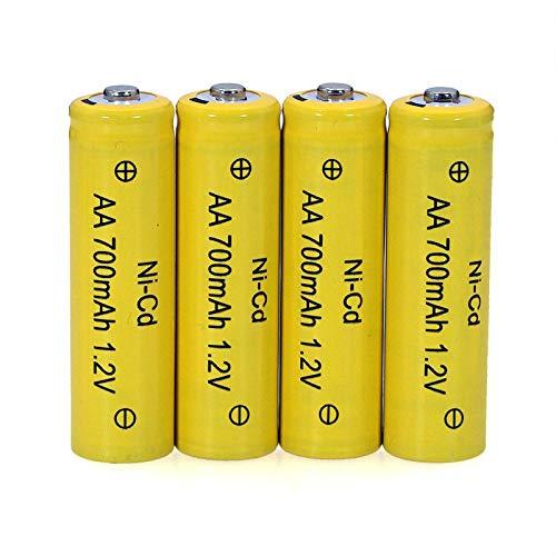 MeGgyc Pilas AA 1.2v Batería Recargable 1.2V AA para Coche de Control Remoto eléctrico RC Toy 4PCS