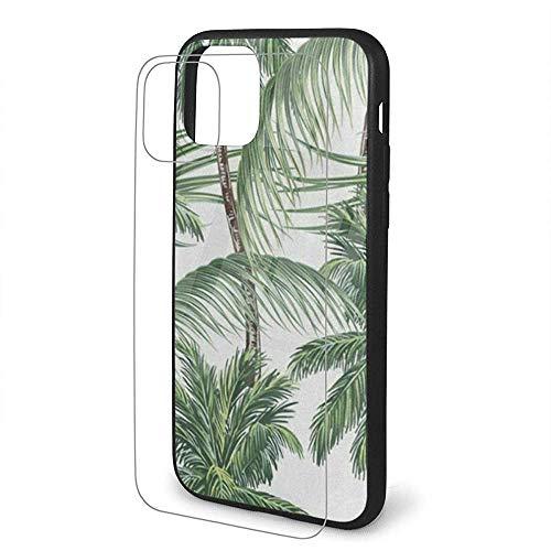 Compatibel met palmbomen Tropische bladeren TPU beschermhoes CoveriPhone 11