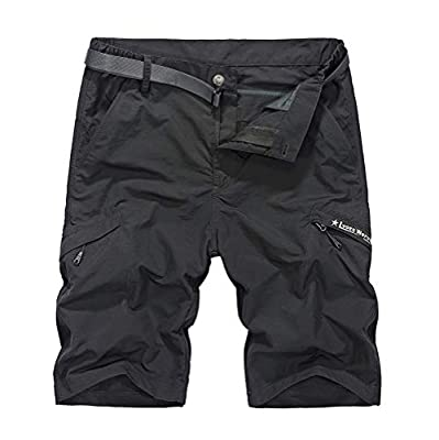 Men's Outdoor Quick Dry Hiking Cargo Shorts Expandable Waist Work Short Knee Length