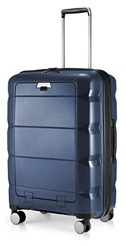Hauptstadtkoffer - Britz - Hartschalen-Koffer mit Laptopfach Koffer Trolley Rollkoffer Reisekoffer Erweiterbar, TSA, 4 Rollen, 66 cm, 60 Liter, Dunkelblau