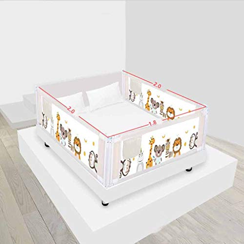 Lowest Price! SHWSM Bed Fence Baby Drop Protection Bar Vertical Lift Crib Wai Children's Universal Baffle (Color : Zoo)