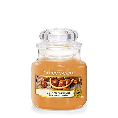 Yankee Candle, kleine Duftkerze im Glas, Golden Chestnut, Farmers' Market Kollektion