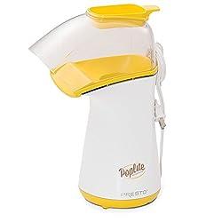 top 10 popcorn poppers Presto 04820 PopLite Popper Hot air popper, yellow