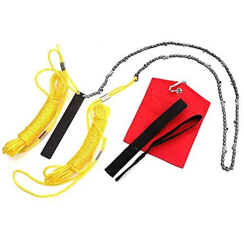 XIHUANNI - Kit de sierra de mano para jardinería, motosierra de 24 a 48 pulgadas con cuerda de sierra de alambre para árbol de madera y ramas de corte, 24 pulgadas
