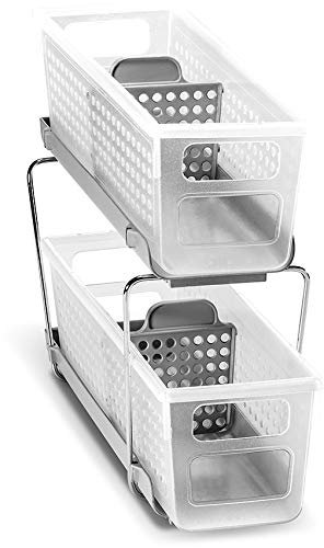 madesmart Mini 2-Tier Organizer with Dividers - Frost