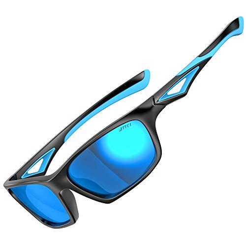 ATTCL Polarisierte Kinder Sonnenbrille TR90 flexibleRahmen Sportbrille für Jungen und Mädchen Alter 3-10 JDRW001 black+Blue
