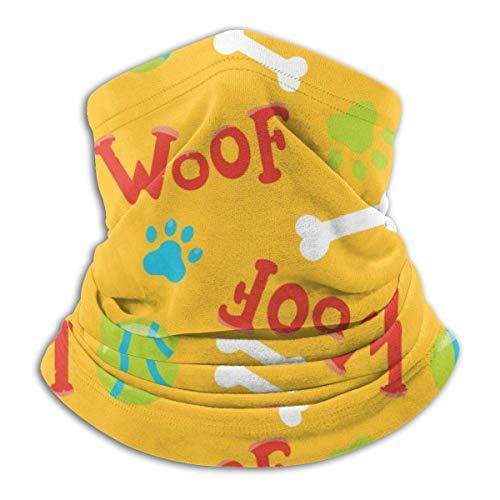 ShiHaiYunBai Tour de Cou Cagoule Microfibre Chapeaux Tube Masque Visage, Fleece NeckScarf Woof Dog Bone Baseball Winter Ski Neck Cover Face Mask Warmer,for Woman Black