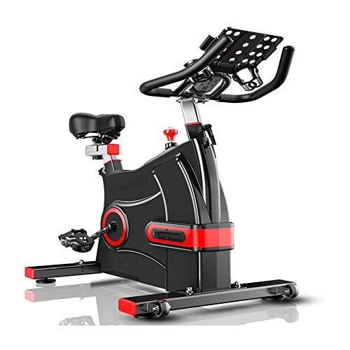 ZAIHW Fitness Upright Heimtrainer mit elektromagnetischem Widerstand, Gerätehalter, Verstellbarer Sitz Lenkern Triangular Stabilisierungssystem bewegen Rad, Maximale Belastbarkeit 150kg
