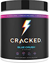 Cracked Rx Nootropic Energy Focus Supplement Drink Powder Without Beta Alanine Itch Preworkout (Fruiting Body Mushrooms, Ashwagandha, Creatine HCL, Serotonin & Dopamine Boost, Mind & Body Support)