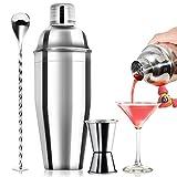 24oz Cocktail Shaker Bar Set - Professional Margarita Mixer Drink Shaker and Measuring Jigger &...