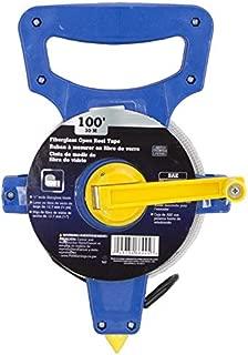 """Edward Tools Tape Measure Reel 100 Ft / 30 Meter - Extra Long FiberGlass Measure for Surveyor,  Appraiser,  Landscape,  Outdoor,  Sports,  Baseball,  Track,  Landscape Work - 1/2"""" wide Blade"""