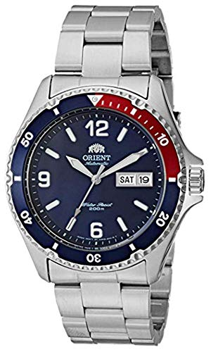 Orient Men's Mako II Japanese-Automatic Watch with Stainless-Steel Strap, Silver, 22 (Model:...