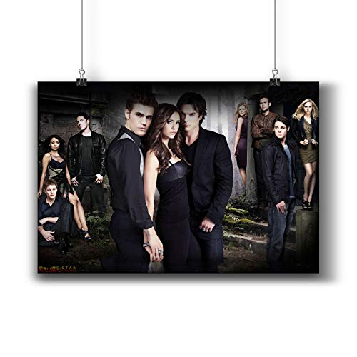 The Vampire Diaries TV Series Poster Small Prints 058-001 Popular TV Show,Wall Art Decor for Dorm Bedroom Living Room (A4|8x12inch|21x29cm)