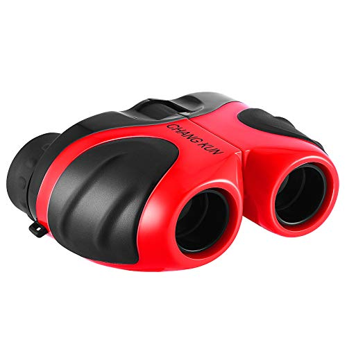 Toys Binoculars for Kids, Compact Shockproof Binoculars High-Resolution 8x21 for Sports and Outdoor Play, Red