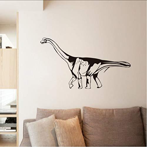 Zlxzlx Nieuwe Ontwerp Dinosaur Sticker Op Muur Decor DIY Decals Elf Lijm Behang Hollow Out Zwart Gedrukt Home Decor Muurstickers 104 * 56Cm