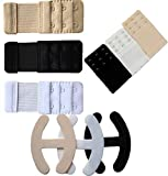pavvoin Women's PVC invisible Bra strap Clips concealer bra converter and bra hook extender - Pack of 9(Black, White and Beige_Free Size)