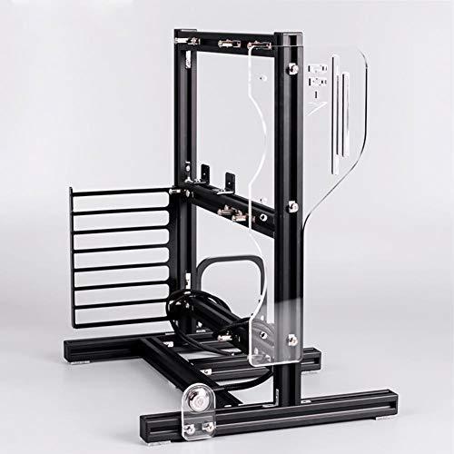 Offenes Gehäuse, Bare-Metal-Rahmen ATX/M-ATX/ITX, Mini-Rahmen aus offener Aluminiumlegierung, Unterstützung unabhängiger Grafikkarten(Schwarz)