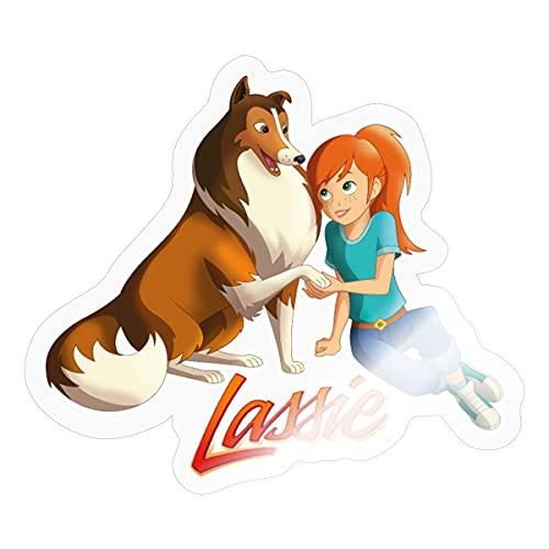 Spreadshirt Lassie Zusammen Mit Zoé Sticker, One Size, Transparent glänzend