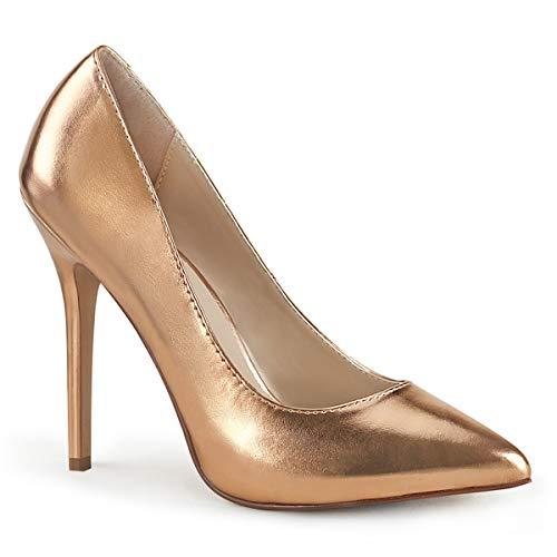 Pleaser Damen High Heel Pumps Amuse-20 Rose-Gold Gr. 46 EU