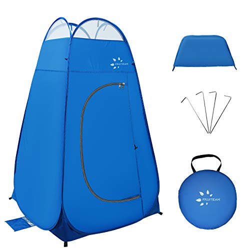 FRUITEAM Pop Up Privacy Tent,Dressing Changing Room,Portable Outdoor Shower Tent,Privacy Shelters Room,Camp Toilet Tent for Camping and Hiking with Carrying Bag