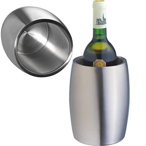Crisma 8287007 Glacette per Vino in Acciaio Inox, a Doppia Parete, Metallo
