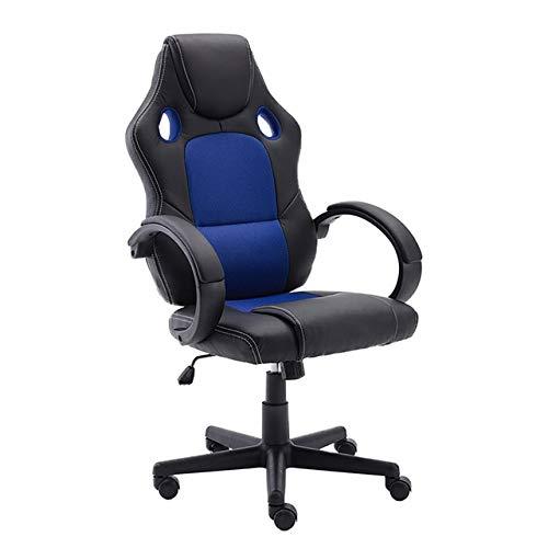 DSHF Gaming Chair, Gaming Stoel,Massage Gaming Stoel, Bureaustoel PU-leer Bureau Gaming-stoel, ergonomisch verstelbare racestoel, taken Draaibare bureaustoel blauw