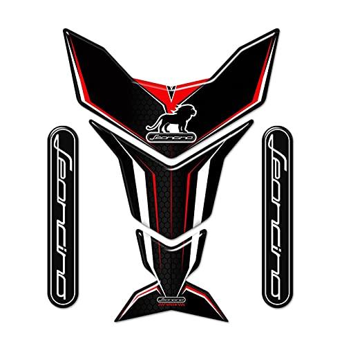 para Benelli Leoncino 125 250 500 800 Pegatinas de Motocicletas Protector Tanque de Combustible Pad Pad Emblem Badge Logo Leoncino Carnacio (Color : 1)