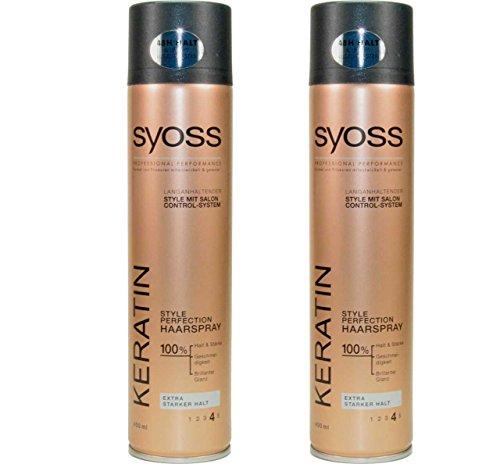 Syoss Keratin Style Perfection Lot de 2 sprays pour cheveux 400 ml