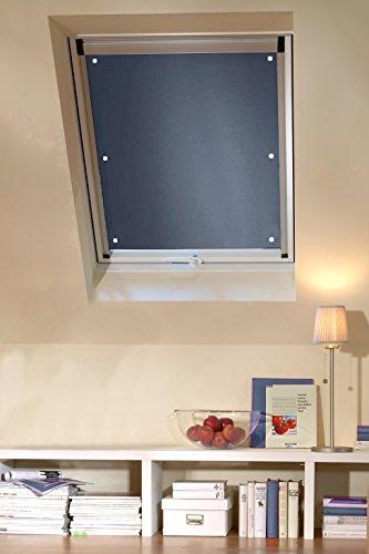 Clothink 76x93cm Thermo Sonnenschutz für Dachfenster   Hitzeschutz für Innen   ohne Bohren ohne kleben mit 6 stabil Saugnäpfe   große Auswahl für Velux + Roto Fenster   1Stück dunkelgrau